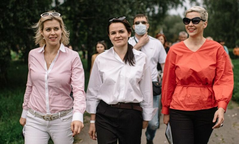 Вероника Цепкало, Светлана Тихановская, Мария Колесникова. Фото: babariko.vision