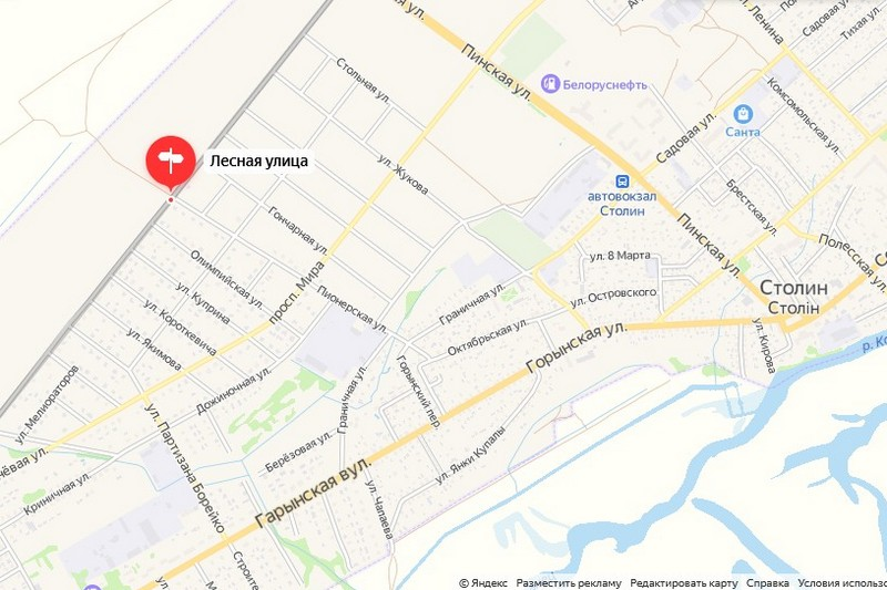 Новая улица будет находиться между улицами Граничной и Лесной. Использованы Яндекс.карты