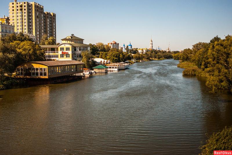 Река Цна в Тамбове