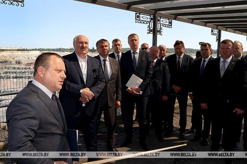 Александр Лукашенко приехал на Гранит