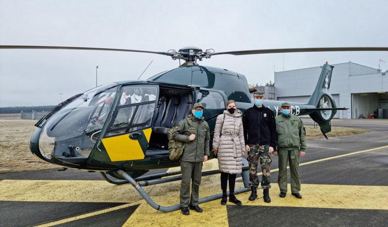Министр внутренних дел Литвы Агне Билотайте проверила охрану границы с Беларусью / Фото: vrm.lrv.lt