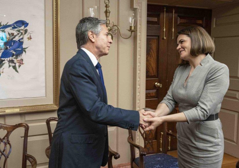 Светлана Тихановская встретилась с госсекретарем США / Фото: пресс-служба политика