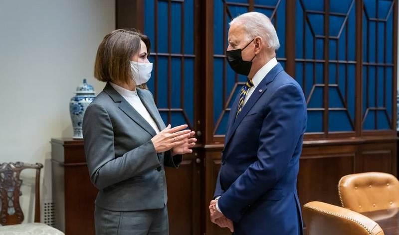 Светлана Тихановская и Джо Байден / Фото: пресс-служба Белого дома