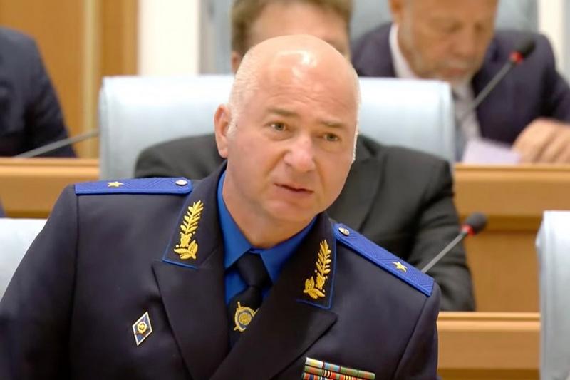 Председатель Следственного комитета Дмитрий Гора во время