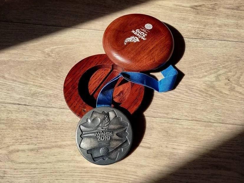 Медаль Кристины Тимановской с Европейских игр. Источник фото: БФСС