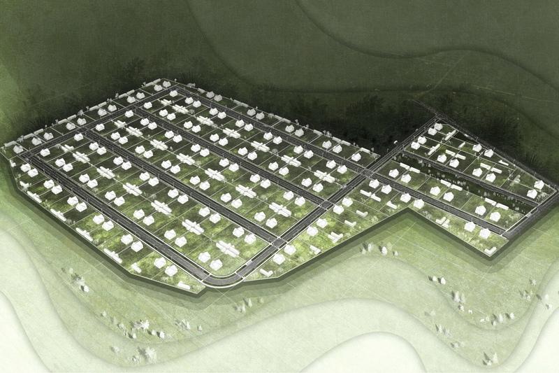 Проектируемый квартал. Фото Пинского райисполкома