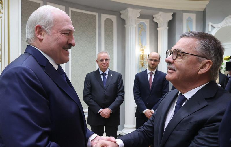 Встреча Александра Лукашенко с Рене Фазелем. 11 января 2021. Фото: president.gov.by