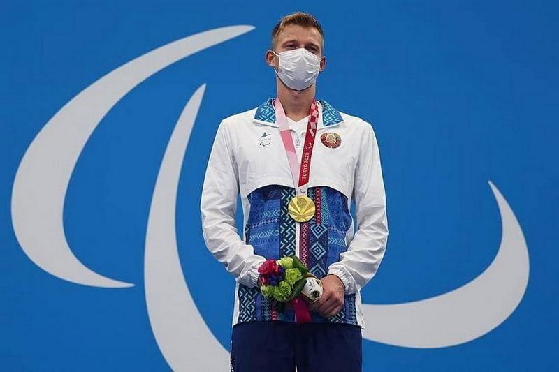Золотой призер Игорь Бокий на Параолимпиаде в Токио. Фото: t.me/noc_belarus