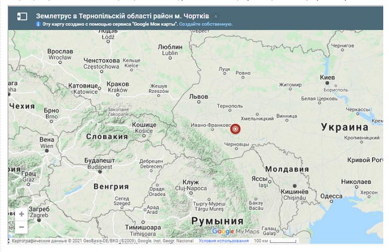 Карта Главного цента специального контроля Украины
