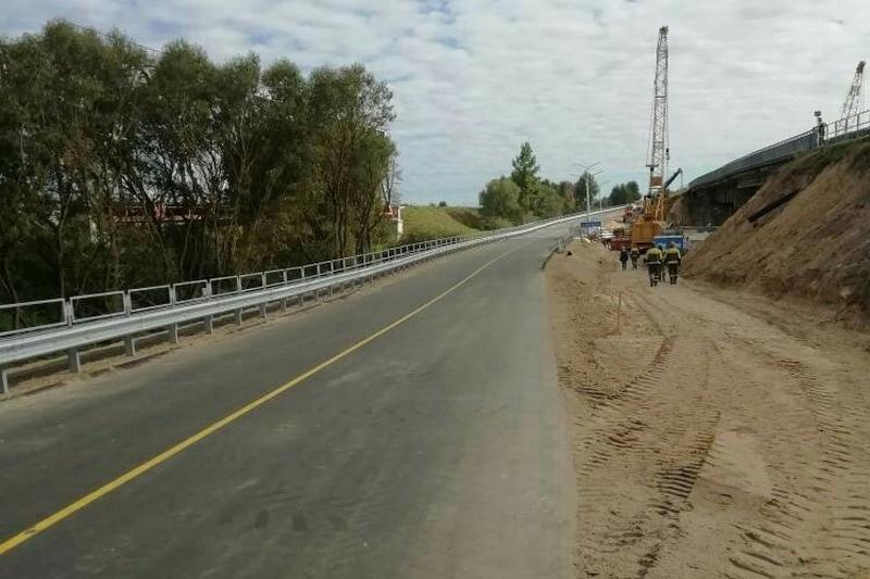 Так выглядит временный мост через Ясельду. Фото Zello «Пинск ГАИ»